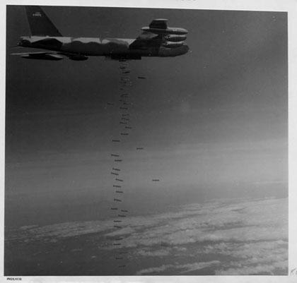 1965 B-52 sw bombs falling
