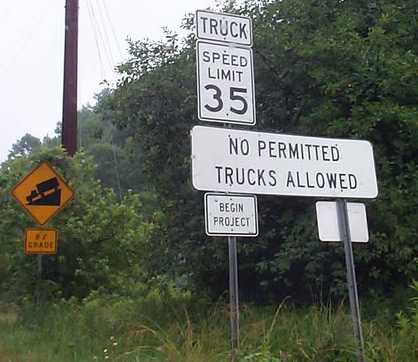 no permitted trucks allowed