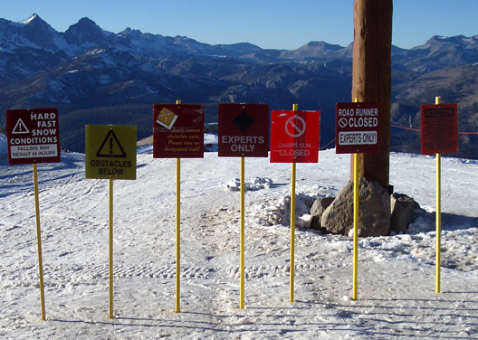 mammoth mountain signs